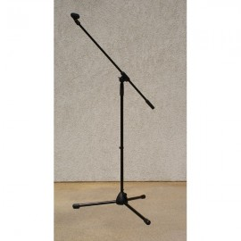 Statyw sceniczny na mikrofon z uchwytem