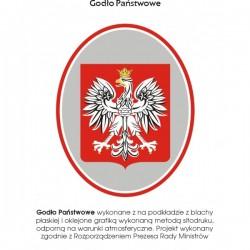 848 Godło Polski metalowe 400x500