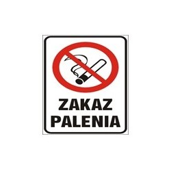 Zakaz palenia 200x400 mm