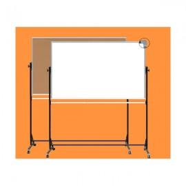 Tablica obrotowa, korek / biała 1,70x 1,00