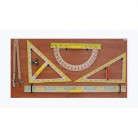 Przybory tablicowe drewniane