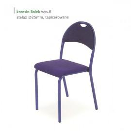 Krzesło Bolek st. malowany wyk. tapicerka podstawowa/mikrofibra