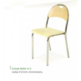 2128 Krzesło Bolek st. malowany wyk. tapicerka skaj