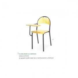 2130 Krzesło Bolek st. malowany wyk.-sklejka + stolik uchylny