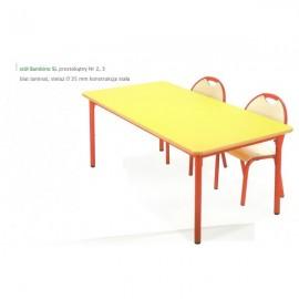 2045 Stół przedszkolny Bambino SL prostokątny nr 2 blat BUK