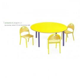 2048 Stół przedszkolny Bambino SLR okrągły regulowany blat BUK