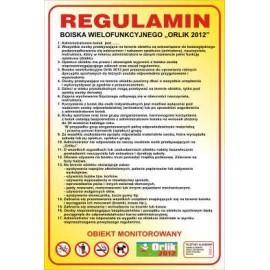 854 Regulamin korzystania z boiska wielofunkcyjnego 50 x 70 cm