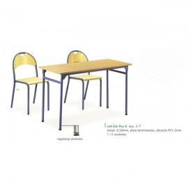 Stół przedszkolny Bambino SLR kwadratowy regulowany blat BUK