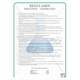 084 Regulamin pracowni chemicznej