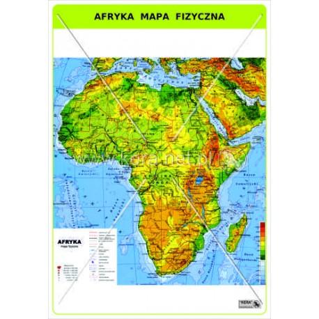 455 Afryka Mapa Fizyczna F H U Kera Bis Elzbieta Pietras