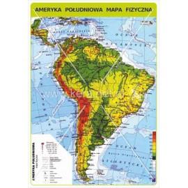 458 Ameryka Południowa - Mapa fizyczna