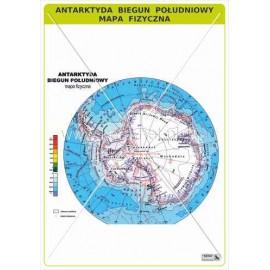 461 Antarktyda - Biegun Południowy - Mapa fizyczna