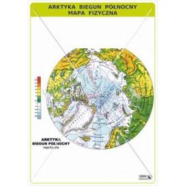 462 Arktyka - Biegun Północny - Mapa fizyczna