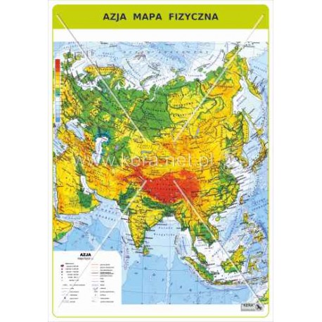 464 Azja Mapa Fizyczna F H U Kera Bis Elzbieta Pietras