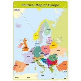 484 Mapa polityczna Europy (angielski)
