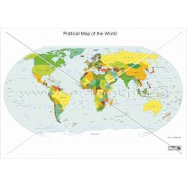 485 Mapa polityczna świata (angielski)