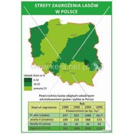 1670 Polska - Strefy zagrożenia lasów w Polsce