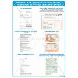 3098 Dokumenty przewozowe wymagane przy przewozie towarów niebezpiecznych