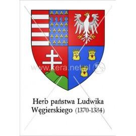 3272 Herb państwa Ludwika Węgierskiego A4
